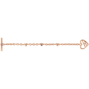 Tommy Hilfiger Ladies Fine Core Rose Gold Heart Toggle Bracelet 2780113