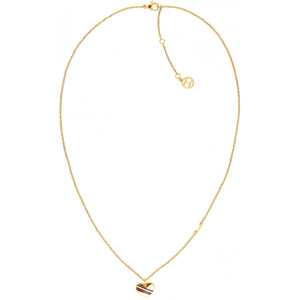 Tommy Hilfiger Ladies Casual Core Gold Heart Charm Necklace 2780126