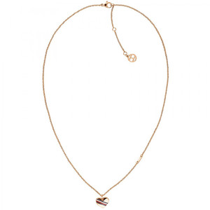 Tommy Hilfiger Ladies Casual Core Rose Gold Heart Charm Necklace 2780127
