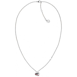 Tommy Hilfiger Ladies Casual Core Silver Heart Charm Necklace 2780128