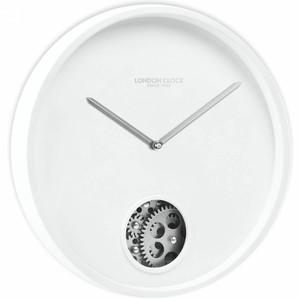 London Clock Precision Skeleton Plastic Case White Wall Clock 01116