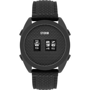 Storm Men's Kombi Slate Black Silicone Strap Watch
