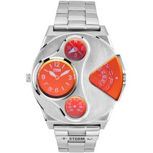 Storm Men's V2 Navigator Lazer Red Dual Time Silver Bracelet Special Edition Watch