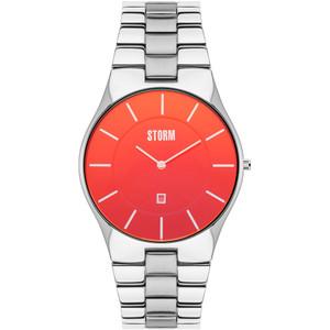 Storm Men's Slim X-XL Lazer RedDial Silver Bracelet Watch