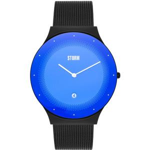 Storm Men's Terelo Slate Lazer Blue Dial Black Mesh Bracelet Slim Watch