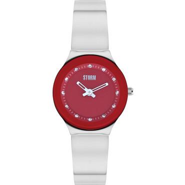93e13d30dc30e Storm Ladies Arin Curvex Red Dial Swarovski Crystals Watch