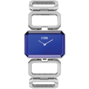Storm Ladies Cosima Lazer Blue Dial Silver Bracelet Slim Watch
