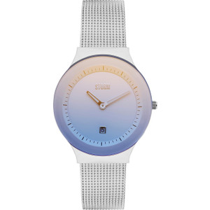 Storm Ladies Mini Sotec Ice Blue Dial Silver Mesh Bracelet Slim Watch