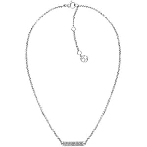 Tommy Hilfiger Ladies Silver Crystals Detailed Chain Necklace 2780192