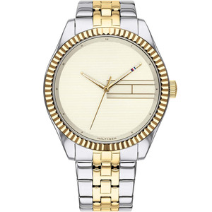 Tommy Hilfiger Lee Ladies Champagne Dial Two Tone Bracelet Watch 1782083