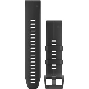 Garmin Quick Fit 22mm Black/Black Silicone Watch Strap 010-12740-00