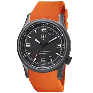 Elliot Brown Tyneham Limited Edition Automatic Orange Rubber Watch 305-D01-R05 Case Back