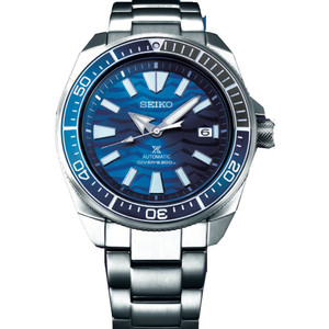 Seiko Prospex Samurai Save The Ocean Automatic Diver's Bracelet Watch SRPD23K1