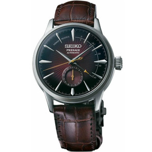 Seiko Presage Black Cat Martini Cocktail Automatic Date Power Reserve Watch SSA393J1