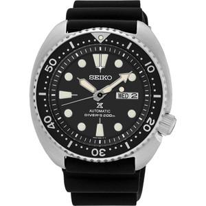 Seiko Prospex Turtle Automatic Diver's Black Silicone Strap Watch SRP777K1