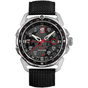 Luminox Men's ICE-SAR Arctic Sapphire Black Dial Textile Strap Watch XL.1201