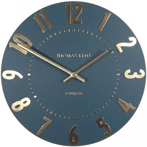 Thomas Kent 30cm Arabic Mulberry Midnight Blue Small Wall Clock AMC12014