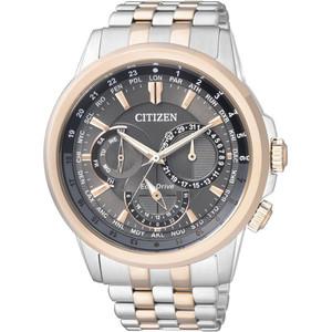 Citizen Men's Eco-Drive Grey Dial Two Tone Bracelet Watch BU2026-65H