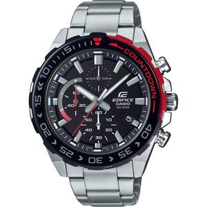 Casio Edifice Chronograph Black Dial Silver Bracelet Watch EFR-566DB-1AVUEF