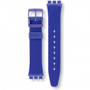 Swatch Watch Strap Classic Purple Callicarpa AGV121 17mm For With Free Battery