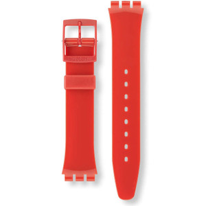 Swatch Watch Strap Classic Red Cherry Berry AGR154 17mm With Free Battery
