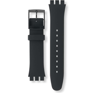 Swatch Watch Reaplcement Strap Black Rebel Soft Silicone ASUOB702