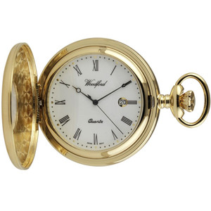 Woodford Half Hunter Pocket Watch With Free Engraving 1211