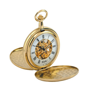 Woodford Skeleton Full Hunter Pocket Watch With Free Engraving 1038