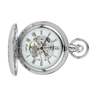 Woodford Skeleton Full Hunter Pocket Watch With Free Engraving 1052