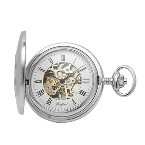 Woodford Skeleton Full Hunter Pocket Watch With Free Engraving 1082