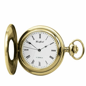 Woodford Skeleton Half Hunter Pocket Watch With Free Engraving 1079