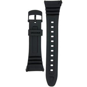 Casio Watch Replacement Strap Black Rubber 10076822 For W-96H Series