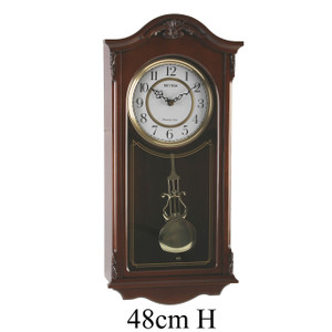Rhythm Westminster Chime Wooden Arch Clock with Pendulum CMJ502FR06