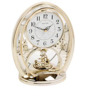 Rhythm Mantel Clock With Animated Rotating Pendulum 4SG768WR18