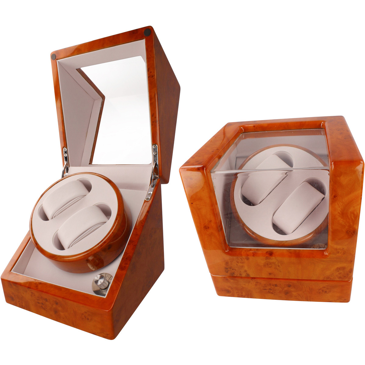 Orbit Automatic Dual Watch Winder Box With 4 Modes Rolex Omega