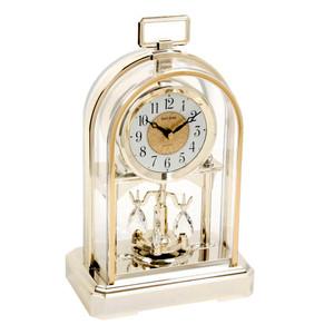 Rhythm Mantel Clock Gold Tone Gilt Oblong Handle 4SG744WR18