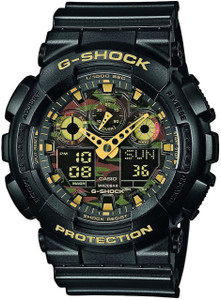 Casio G-Shock Men's Military Camouflage Dial Chronograph Watch GA-100CF-1A9ER