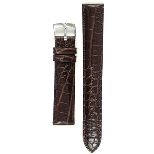 Armani Replacement Watch Strap For AR0204 Brown Genuine Leather With Free Connecting Pins
