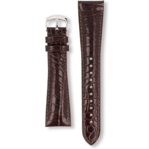 Armani Replacement Watch Strap Brown Leather 22mm For AR0248 And AR0255