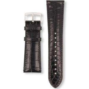 Armani Replacement Watch Strap For AR0263 Black Genuine Leather