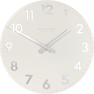 Thomas Kent Camden Designer Snowberry White Wall Clock (30 cm)