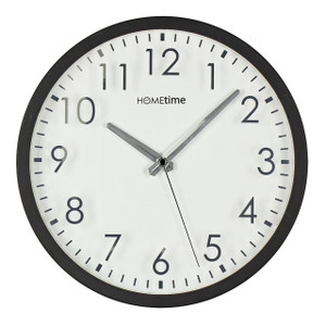 Hometime Wall Clock Mirror Numbers On Clear White Dial (30 cm) W6346
