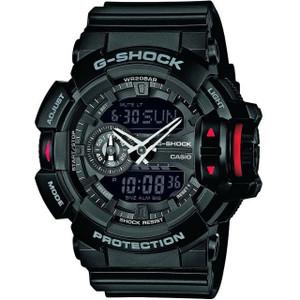 Casio G-Shock Scroll Wheel Black Alarm Chronograph Watch GA-400-1BER
