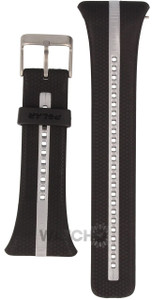 Polar Replacement Watch Strap For FT7 Black And Silver With Free Watch Battery