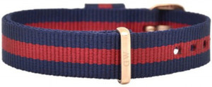 Daniel Wellington Classic Oxford Rose Ladies Red And Navy Fabric Watch Strap 0701DW