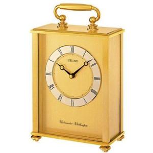 Seiko Carriage Clock Westminster and Whittington Chime Mantel Clock QHJ201G