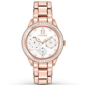 Citizen Women's Eco-Drive Silhouette Crystal Rose Gold Watch FD2013-50A