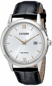 Citizen Men's Eco-Drive Black Leather Strap Watch AW1236-03A