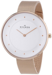 Skagen Ladies' Gritte Refined Rose Gold Mesh Strap Watch SKW2142