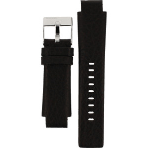 Replacement Black Leather Strap for Diesel Model DZ1032